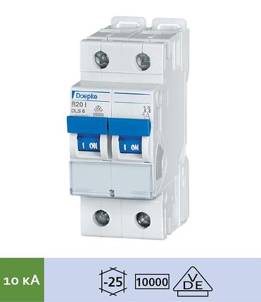 Автоматический выключатель Doepke DLS 6i B10-2 (тип B, 2пол., 10 А, 10 кА), dp09916080