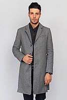 Пальто мужское классическое 662K001 (Серый)