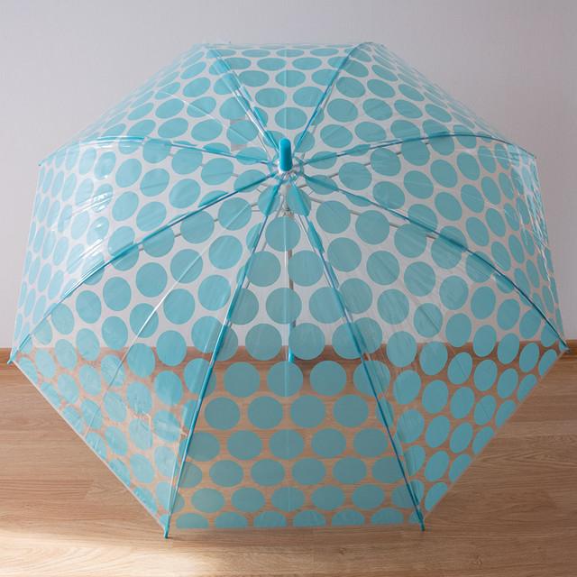 Женский силиконовый зонт трость