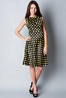 Платье-сарафан в желтый горохй П146