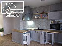"""Кухня - студия в стиле """"Лофт"""" с откидным столиком"""