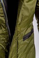 Куртка удлиненная зимняя 743K001 (Хаки)