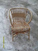 Кресло из лозы ракушка плетеное