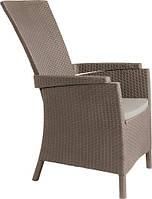 Крісло-стілець зі штучного ротангу VERMONT капучіно (Allibert), фото 1