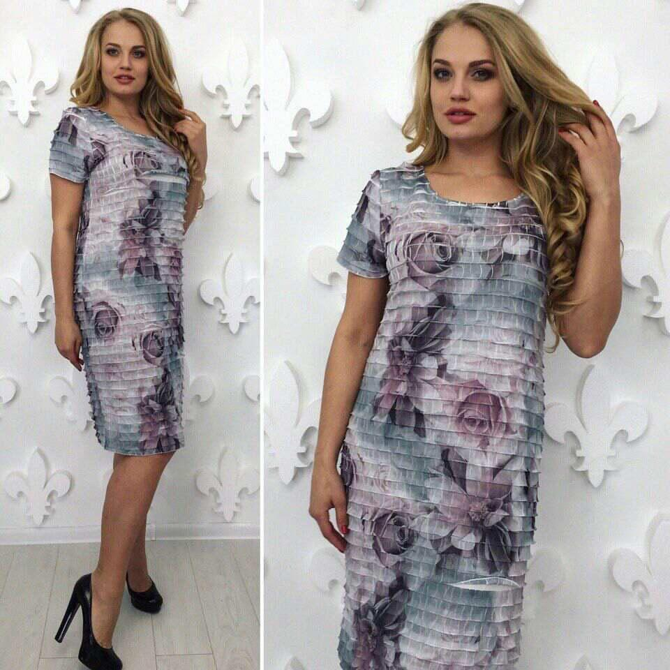 4a0d1d5353f Удивительное женское платье с рюшами ткань