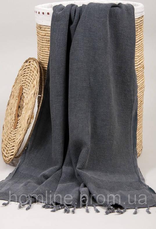 Полотенце Barine Pestemal Stone 85*160 Black черное