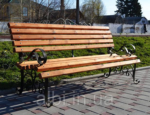 Скамья парковая деревянная Юлия 2м