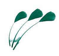 Перья Декоративные (Перо) Гуся Зеленые Изумрудные 15-20 см 10 шт/уп, фото 1