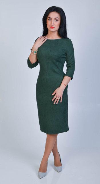 Элегантное молодежное замшевое платье футляр (размер 44-50)