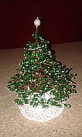 Новогодняя елочка из бисера, ручная работа, фото 1
