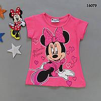 Футболка Minnie Mouse для девочки. 2-3;  6-7  лет, фото 1