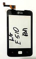 Сенсор (тачскрін) для LG E510 Optimus Hub чорний