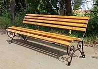 Кованая скамья садовая Парковая 1,5м, фото 1