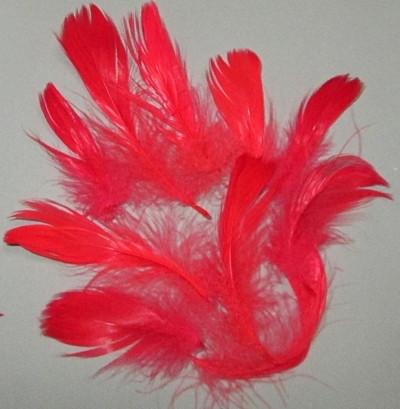 Пір'я декоративні 6-12 см-10 шт., червоні
