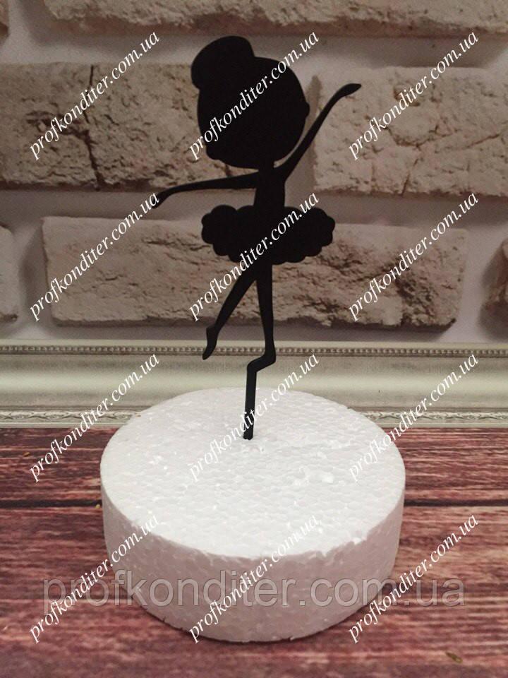 Пластиковый топер МИНИ-балерина