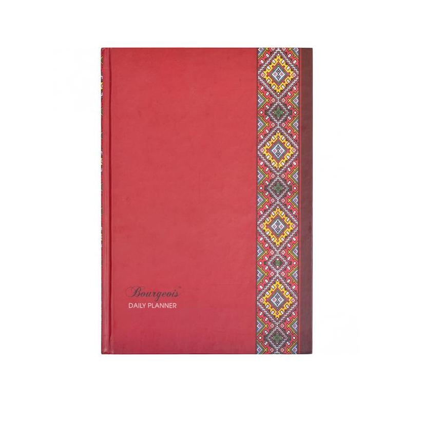 Ежедневник А5 твёрдая обложка, 160л., линия Бордо