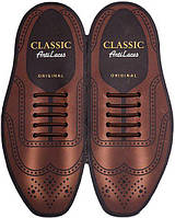 Силиконовые шнурки (антишнурки) для классических туфель , фото 1