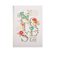 Ежедневник А5 твёрдая обложка, 160л., линия Белый, фото 1