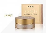 Petitfee, патчи для глаз с золотым гидрогелем