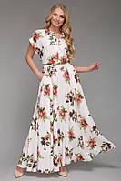 """Платье длинное большого размера VР55 """"нежность"""""""