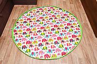 Плеймат  Слоники 150 см  (коврик-трансформер для игр, мешок для игрушек)