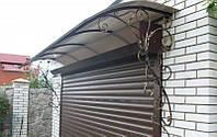 Навесы из поликарбоната между гаражами из металла | Цена гаражных металлических навесов от изготовителя