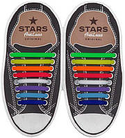 Косі силіконові шнурки (антишнурки) для кросівок та кедів AntiLaces 68 мм - 38 мм, фото 1