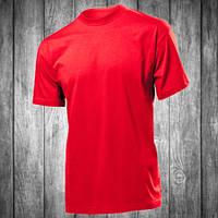 Футболка мужская красная с круглым вырезом Stedman - 00758