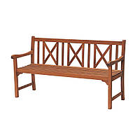 Садовая лавочка скамейка со спинкой из дерева 158 см