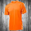 Футболка мужская оранжевая с круглым вырезом