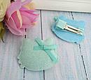 Детские заколки уточки для волос Китти 4,5*4 см блестящая 20 шт/уп, фото 7
