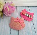 Детские заколки уточки для волос Китти 4,5*4 см блестящая 20 шт/уп, фото 8