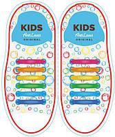 Детские прямые силиконовые антишнурки для кроссовок и кед AntiLaces 38 мм, фото 1