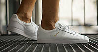 Мужские кроссовки Adidas Gazelle Leather Trainers White