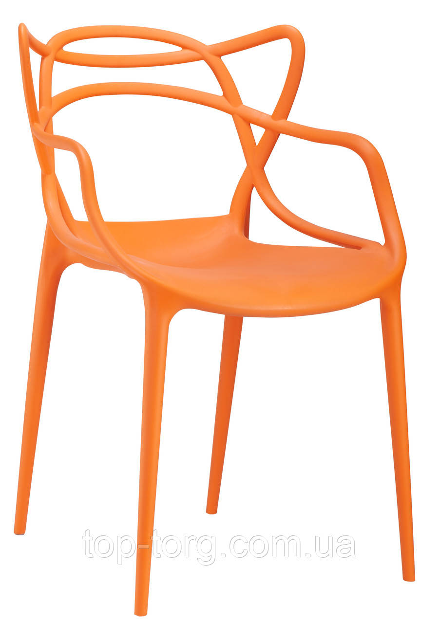 Стілець Masters pp-601 Flower orange помаранчевий, дизайнер Філіп Старк