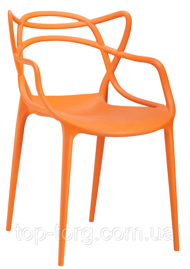 Стул-masters-chair-philippe-starck Мастерс pp-601 flower оранжевые