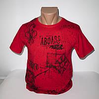 Мужская молодежная красная футболка размеры 42-48 хлопок Турция 2658