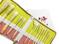 Кисти для макияжа Kylie в мягком пенале (14 предметов) - Белый (реплика)