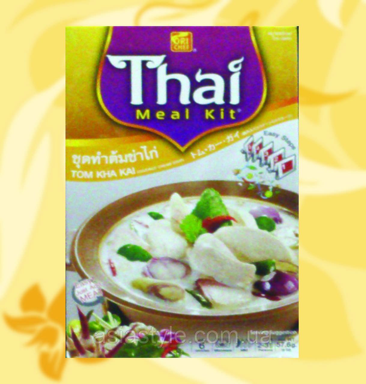 Набір для приготування тайського супу Том Кха, Thai Meal Kit, Том Kha, 57,6г, Фо