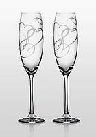 Набор бокалов для шампанского Bohemia Grandioso Amour SWAROVSKI 2 шт. Свадебные бокалы