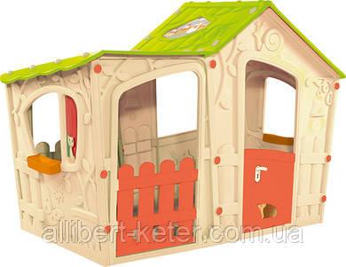 Будиночок MAGIC VILLA HOUSE кремовий-світло -зелений (Keter)