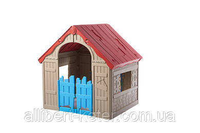 Будиночок FOLDABLE PLAY HOUSE червоно-бежевий-синій (Keter)