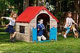 Будиночок FOLDABLE PLAY HOUSE червоно-бежевий-синій (Keter), фото 3