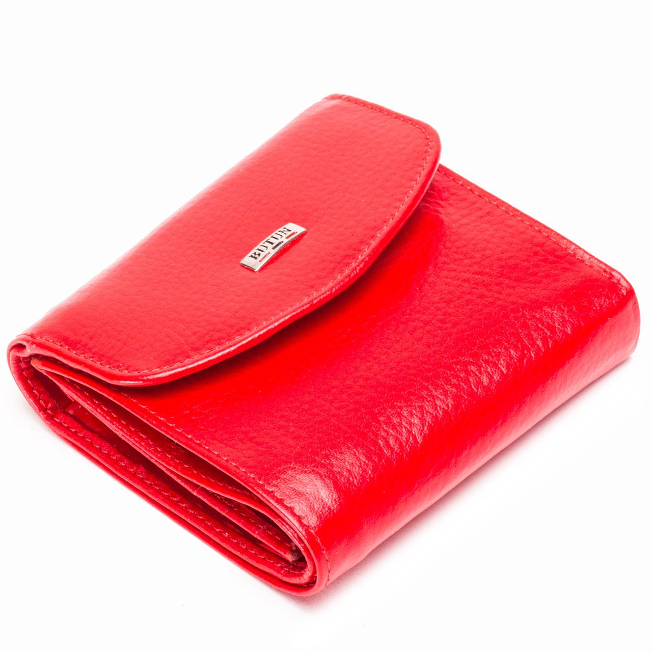 Женский кошелек кожаный красный BUTUN 584-004-006