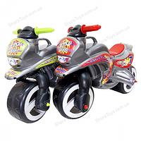 "Детский велобег ""Мотоцикл"" металлик"
