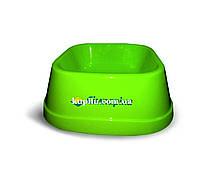 Миска для собак небольших пород из полированного пластика для корма и воды 0,6 л