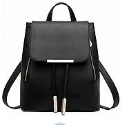 Рюкзак женский черный вместительный код 3-324