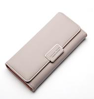 Модный кошелек женский серый код 195