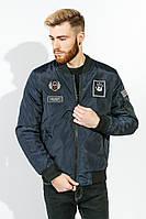 Куртка мужская на змейке 616K002-3 (Темно-синий)