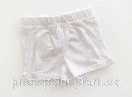 Однотонные шорты на девочку KIABI, белые 6 мес.
